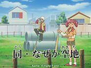 Saburo with Natsumi in Keroro's Underground Base