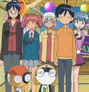Aki Hinata, Natsumi Hinata, Fuyuki Hinata, Mutsumi Saburo, Momoka Nishizawa, Tamama & Keroro
