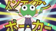 Keroro as a casino waiter