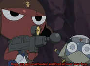 Giroro fired all over your face and Dororo...I'm not sure what he did