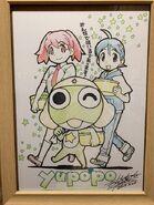 Keroro, Natsumi, fuyuki holding bowls