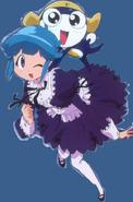 Tamama and Momoka in a maid dresss