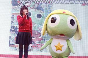 Kumiko with Keroro advertising the flash series
