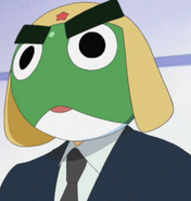 Keroro's pekoponaina suit wiyh eyebrows