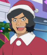 Kogoro as Santa