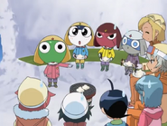Keroro points and others sweat in ep 195