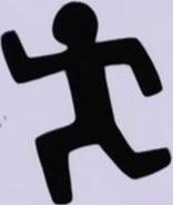 Omiyo's runnming sign before
