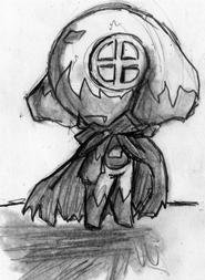 Un pequeño dibujo de Dark Keroro y Kagege combinados