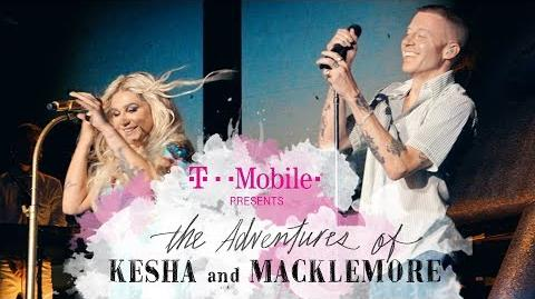 The Adventures of Kesha & Macklemore Tour Ep.1 BTS T-Mobile
