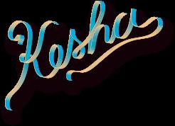 Kesha logo rainbow