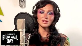 """Kesha Performs """"Rainbow"""" for Pride Live's Stonewall Day Logo TV"""