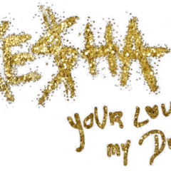 <i>Your Love Is My Drug</i> Alternative Logo (png made by @keshaswhore)