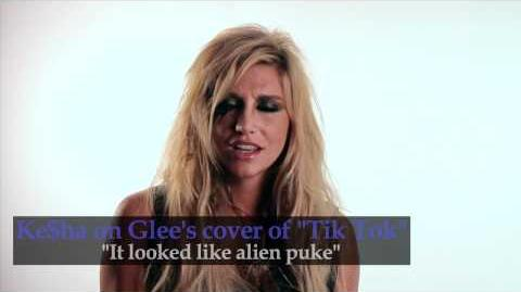 "Ke$ha talks Glee's Cover of ""Tik Tok"""