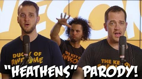 "Twenty one pilots ""Heathens"" PARODY! The Key of Awesome UNPLUGGED"