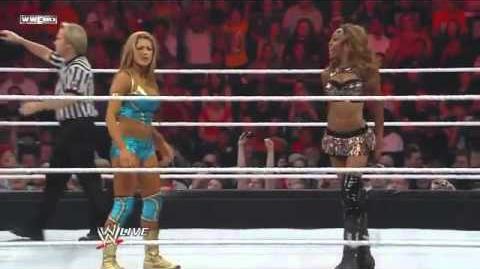 Eve Torres & The Great Khali vs Divas Champion Alicia Fox & Primo - WWE Raw 6 21 10