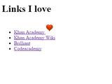 Challenge: Links you love