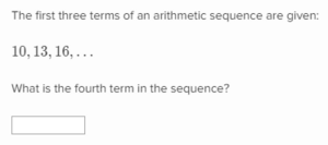 Find the next term of an arithmetic sequence, given the first few terms