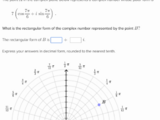 Rectangular and polar forms of complex numbers