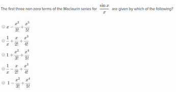 Maclaurin series for sin x, cos x, and e^x | Khan Academy