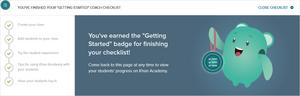 "\""Getting Started\"" coach checklist"