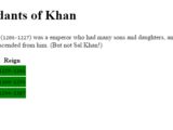 Challenge: Descendants of Khan