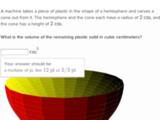 Volume word problems with cones, cylinders, and spheres