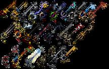 Kh2 keyblades2