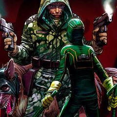 Kick-ass and the Colonel Stars