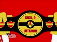 Kick Lutador Cartão de Título