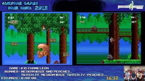 Kid Chameleon Speedrun Race in 32 37 (*Live at AGDQ 2013*) Wii VC