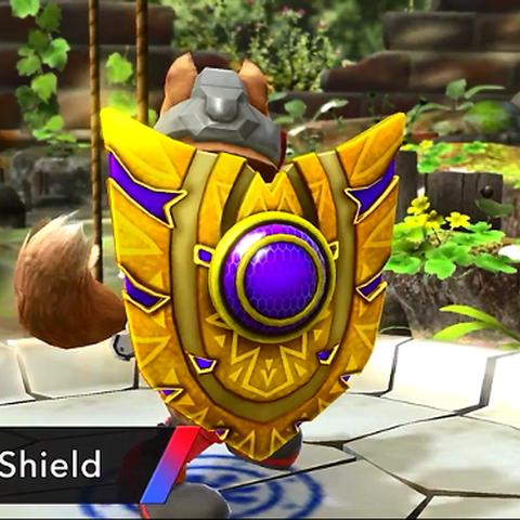 Fox usando el Retroescudo en Super Smash Bros. (3DS/Wii U).
