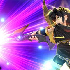 Pit haciendo su Smash Final en Super Smash Bros. para Wii U