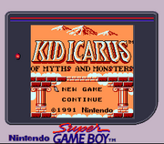 Kid Icarus Of Myths and Monsters Super GameBoy