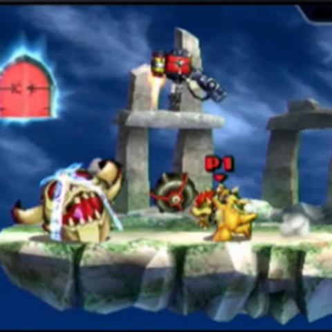 Un Coravera descansando en el modo Smashventura de Super Smash Bros. 3DS