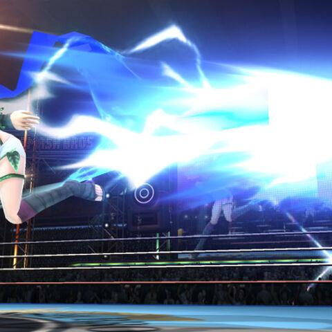 Ámbar atacando en Super Smash Bros. para Wii U