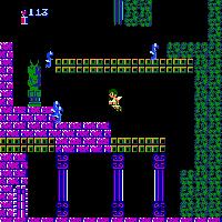 Inicio del nivel 1-3 de Kid Icarus