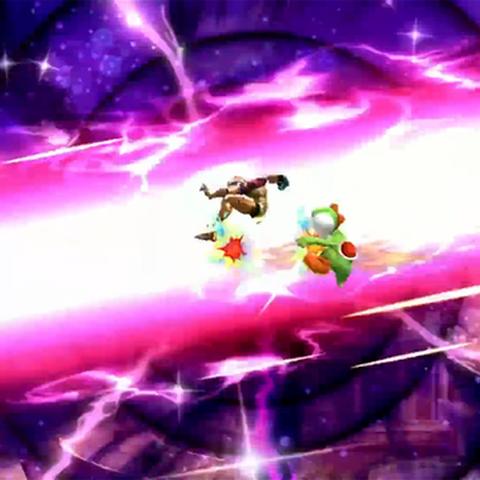 Rayo concentrado, como parte del Smash Final de Palutena en Super Smash Bros. para Wii U