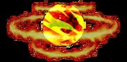 Burning palm
