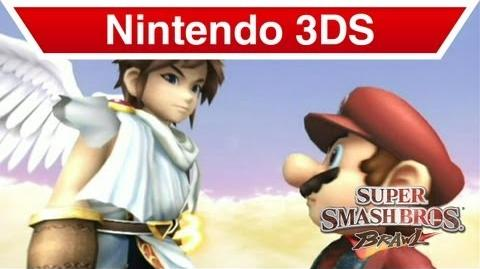 Nintendo 3DS - Kid Icarus Uprising; Pit & Mario in Super Smash Brothers Brawl