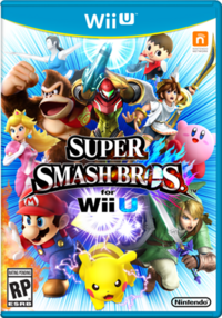 Super Smash Bros Wii U carátula