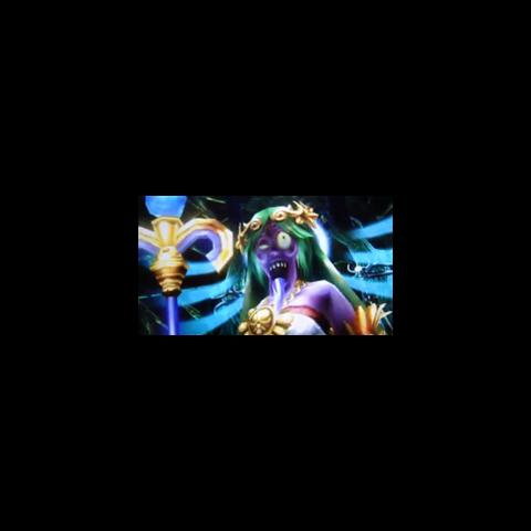 Palutena desfigurada en Kid Icarus: Uprising