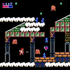 Una imagen del Reino del Cielo en Kid Icarus.