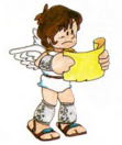 Artwork de Pit con el mapa en Kid Icarus