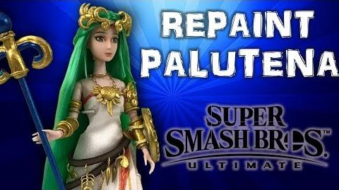 Custom PALUTENA doll repaint TUTORIAL Super Smash Bros Ultimate