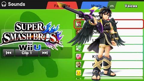Dark Pit Voice Clips - Super Smash Bros Wii U