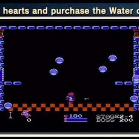 ¡Recoge corazones y compra el agua de la vida!