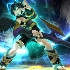 Pit Sombrío a punto de hacer su Smash Final en Super Smash Bros. para Wii U