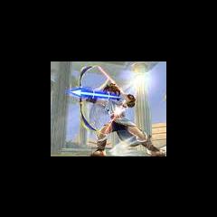 Pit usando la flecha de luz en SSBB