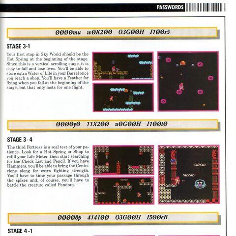 Páginas de Nintendo Power sobre las contraseñas