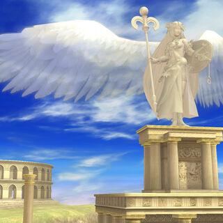 El Templo de Palutena como escenario en Super Smash Bros. (3DS/Wii U)